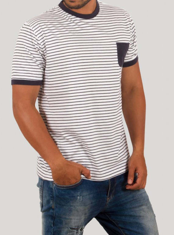 Navy Stripped TShirt