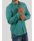 Green Check Casual Shirt