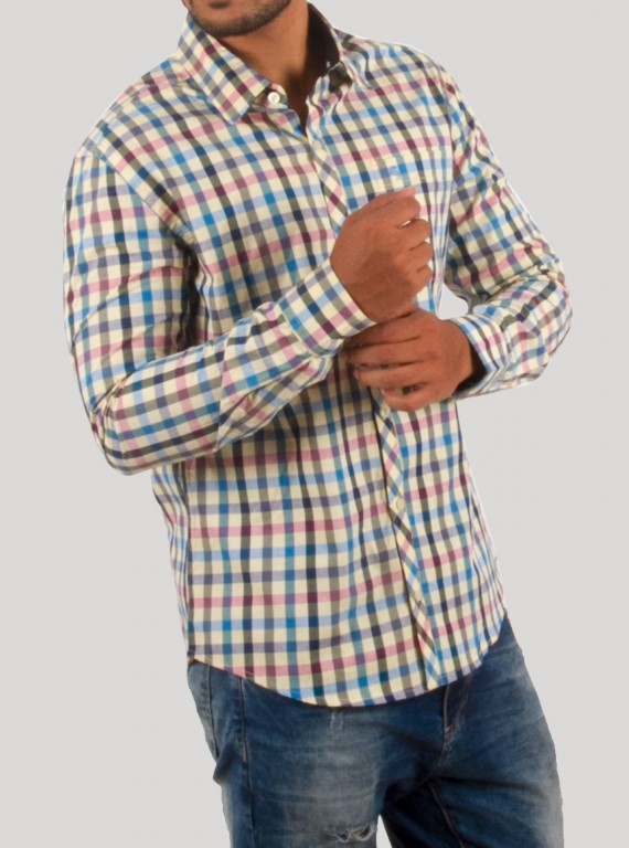Ink Stripe Slim Fit Full Sleeve Shirt