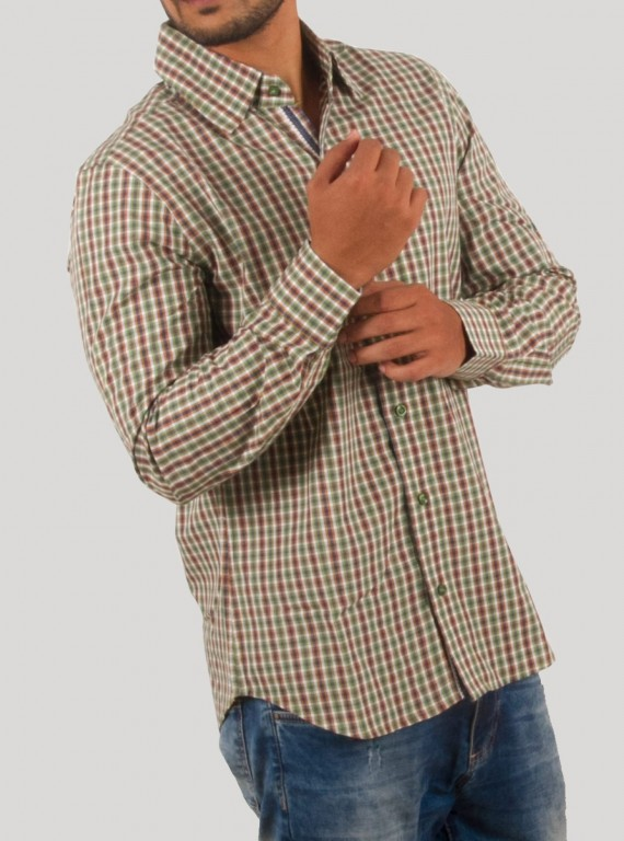 Regular Fit - Green Checkered Shirt