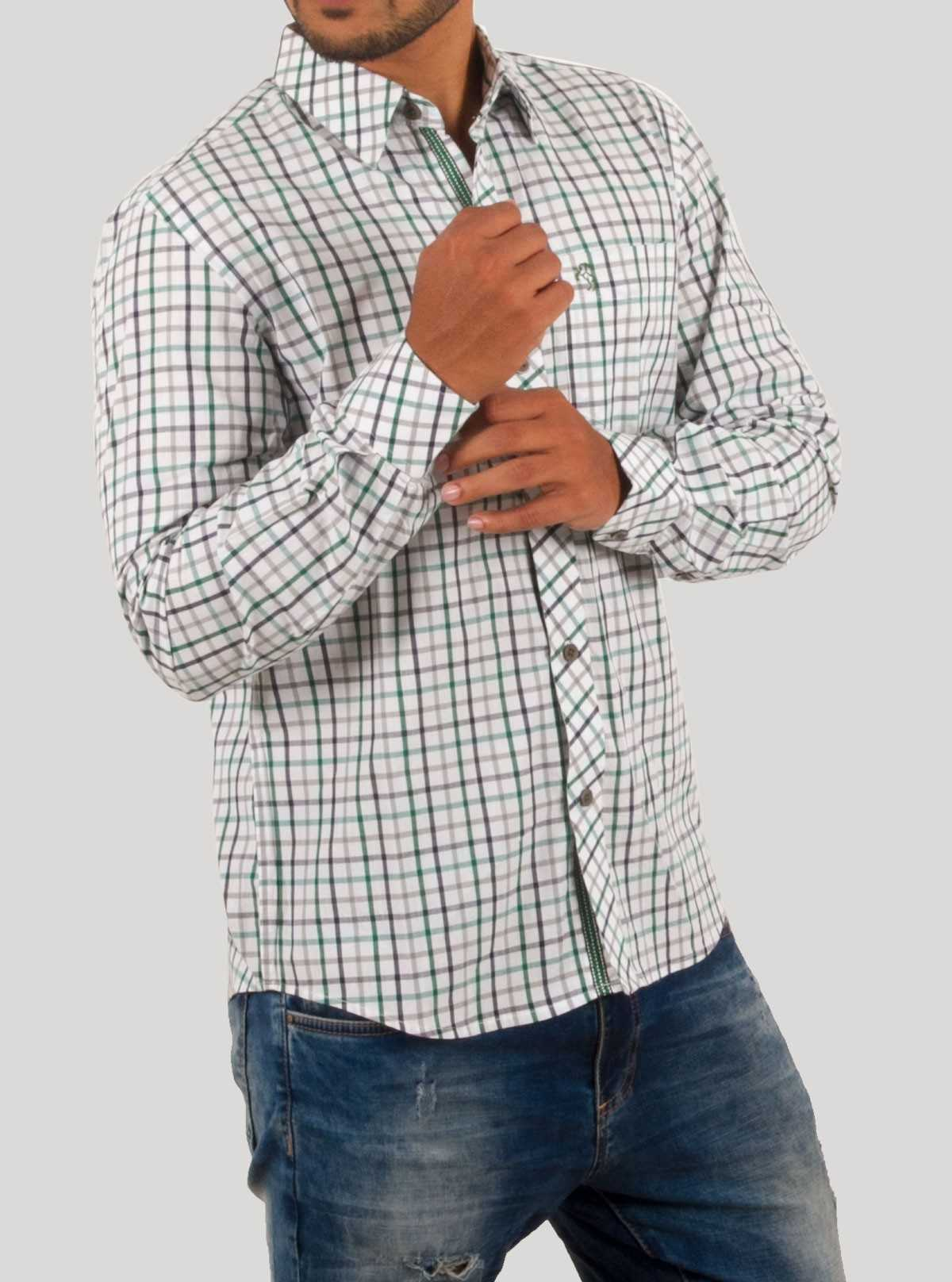 Green Checkered Casual Shirt