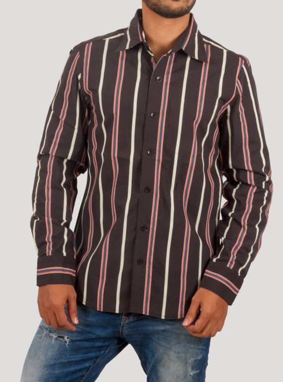 Black Stripe Casual Shirt