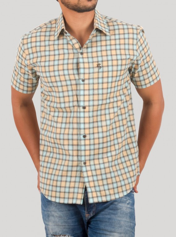 Brown Check Casual Shirt
