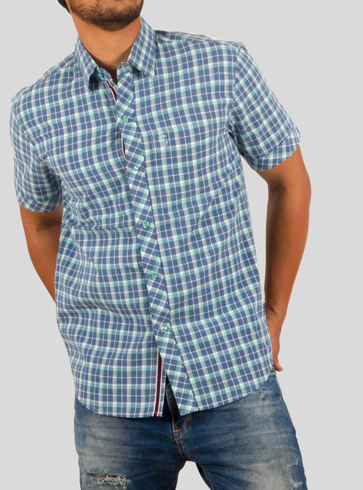 Checks Ink Blue Shirt