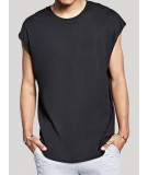 Black Cap Sleeve High and Low Tee