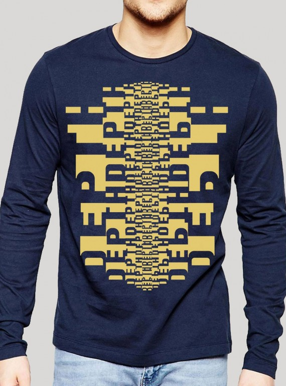 Navy Graphic Print TShirt