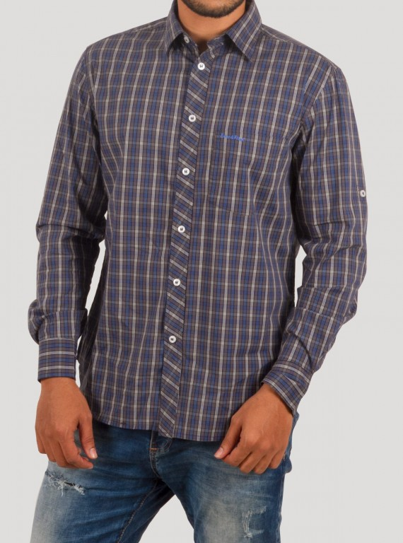 slim Fit - Grey Checkered Shirt