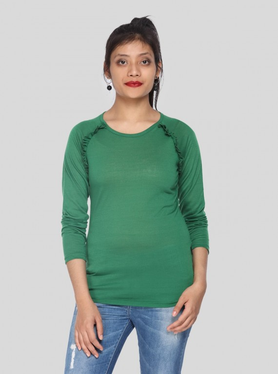 Fruitta Green Viscose Top