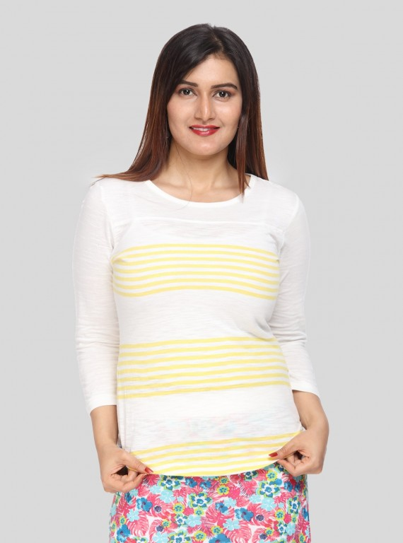 Lemon Stripe Womens Top