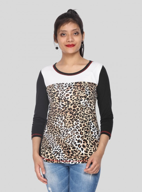 Womens Animal Foot Printed Top
