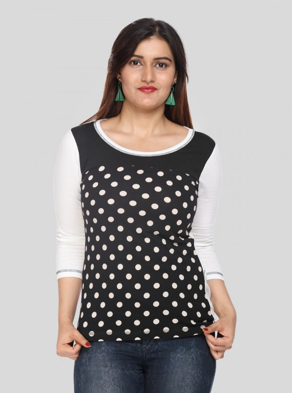 Dotted Cut & Sew Top