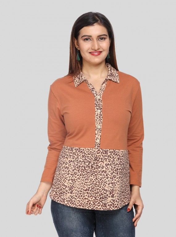 Brown Spreaded Womens Top