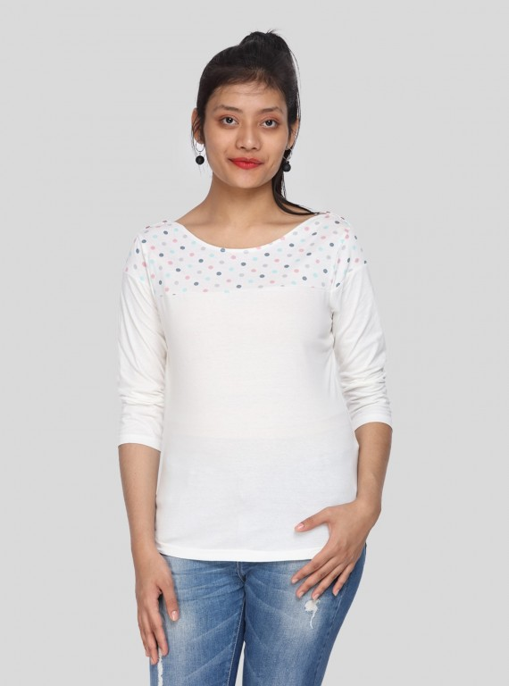 Multi DOT Printed Womens Top