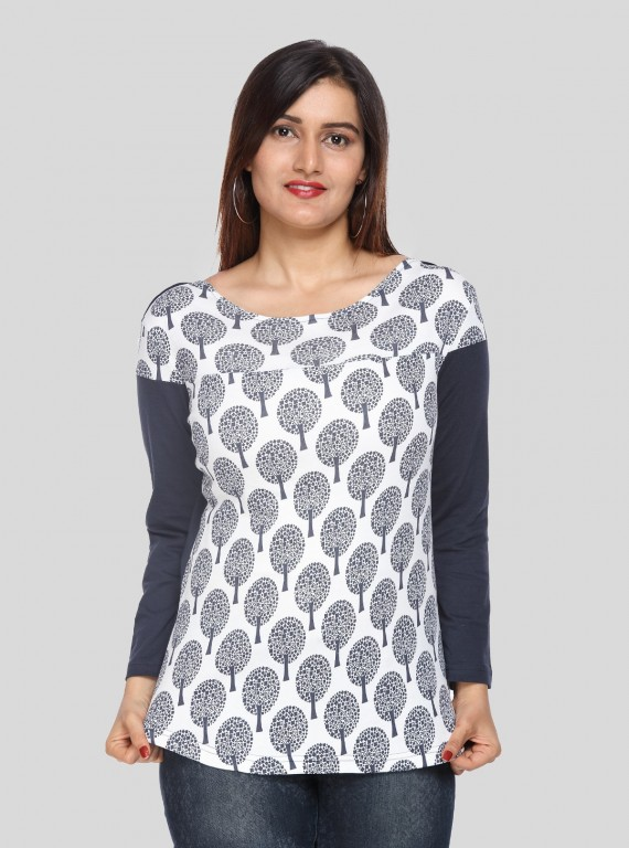 Tree Printed Womens Top