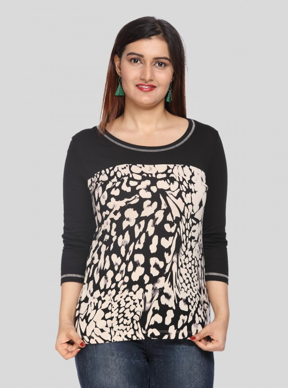 Beidge Print Womens Top