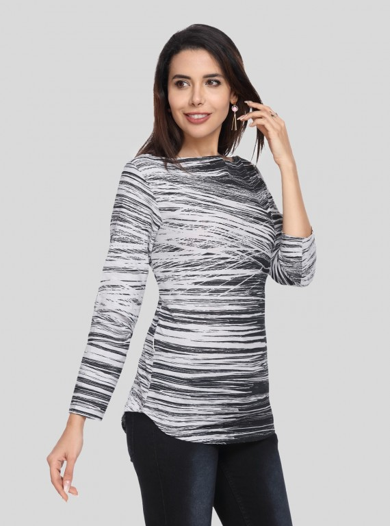 AOP Stripe Womens Top