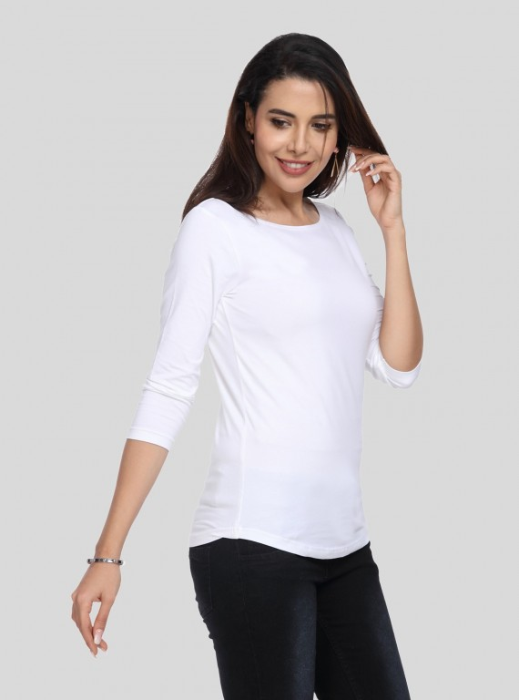 White Long Sleeve Womens Top