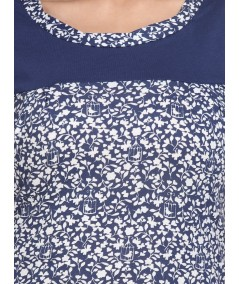 Floral Cut & Sew Womens Top