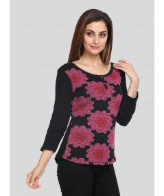 Floral Print Buttoned Top