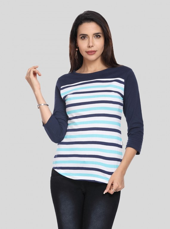 Asthetic Stripe Womens Top