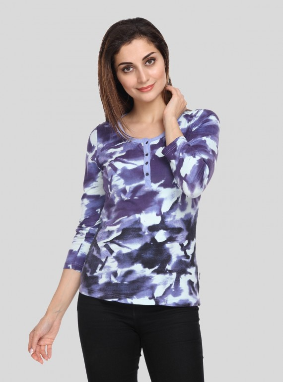 Blue Distress Women's Top