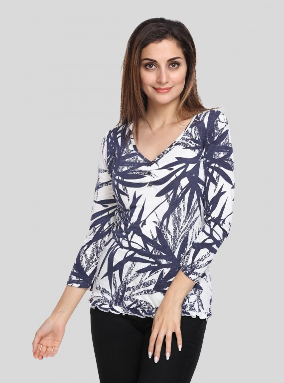 Creepy Leaves Womens Top