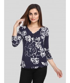 Spring Leaves Womens Top