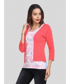 Fuschia Contrast Set Top