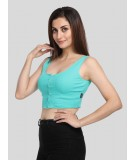 Parrot Green Durby Crop top