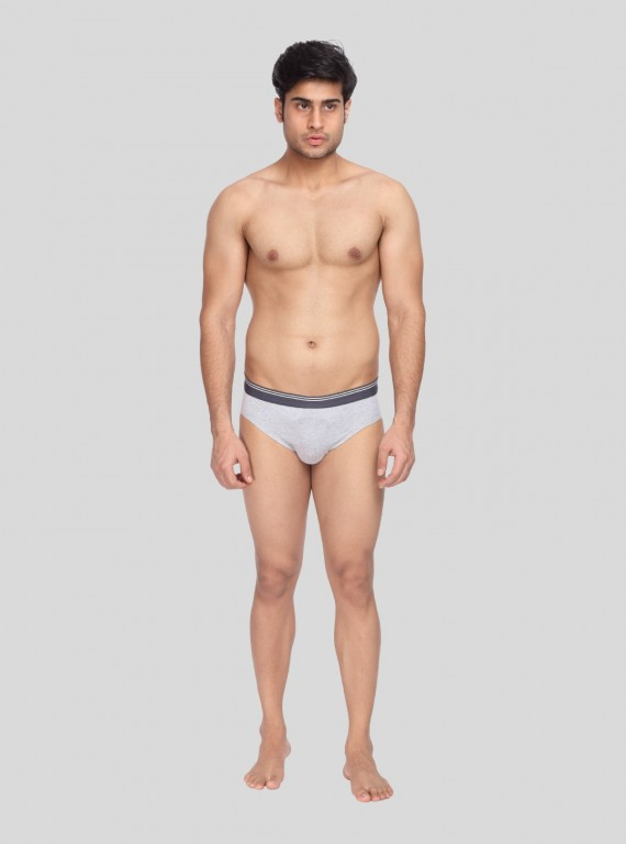Grey Melange Brief