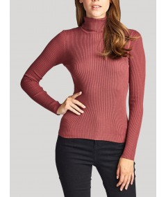 Light Red Turtle Neck Top