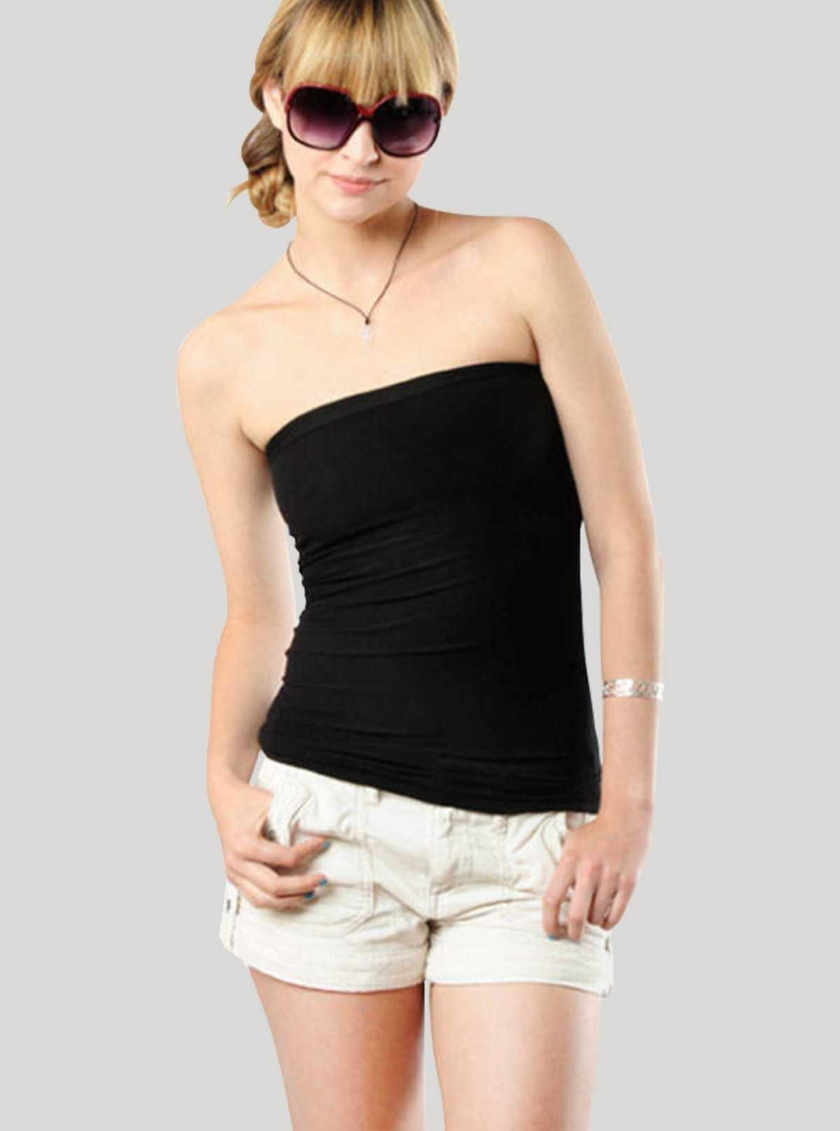 Womens Tube Top - Black
