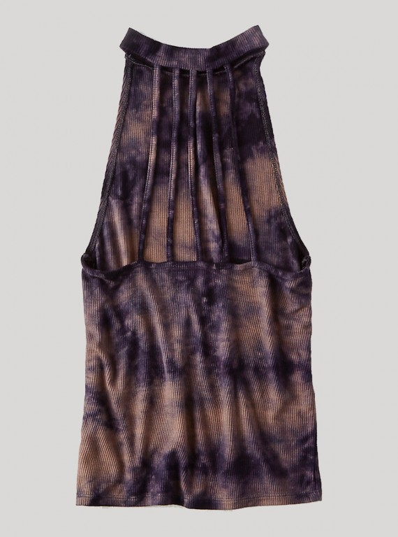 Brown Tie and Dye Durby Top