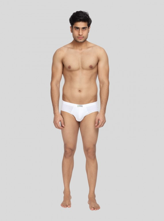 White jersey Brief