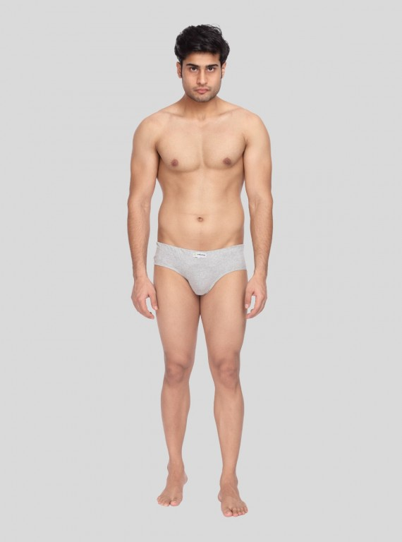 Grey Melange jersey Brief