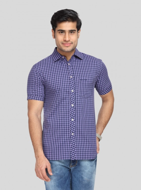 Purple Checkered Shirt
