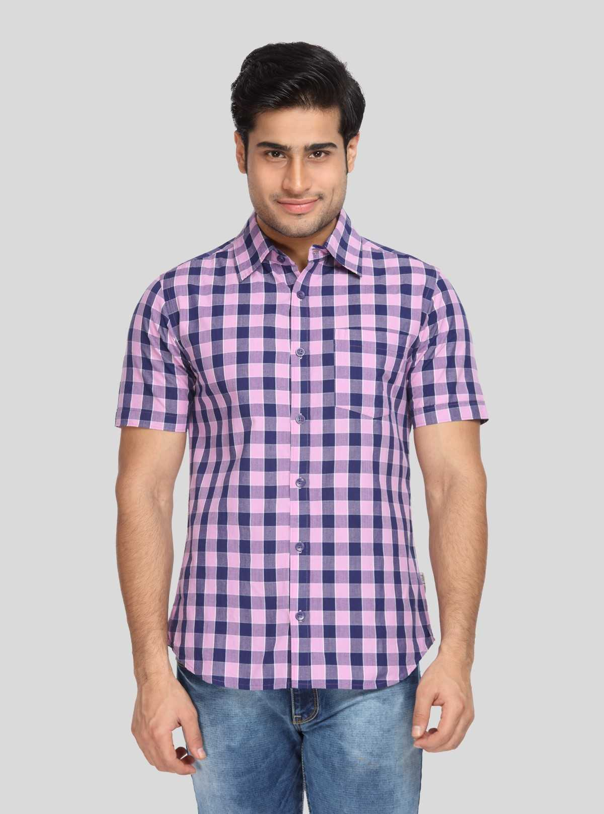 Purple Broad Check Shirt