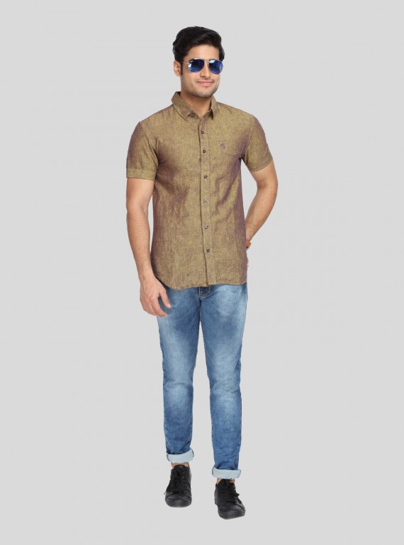 Solid Linen blended Shirt