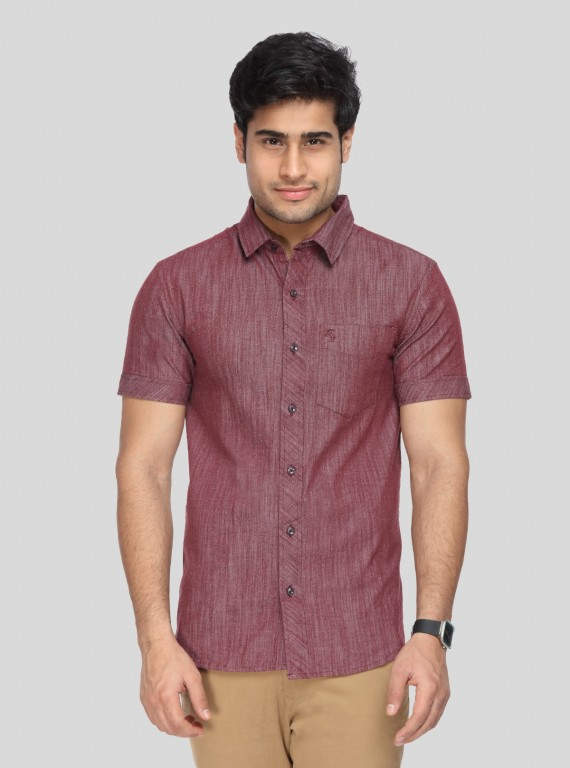Denim Burgundy Shirt