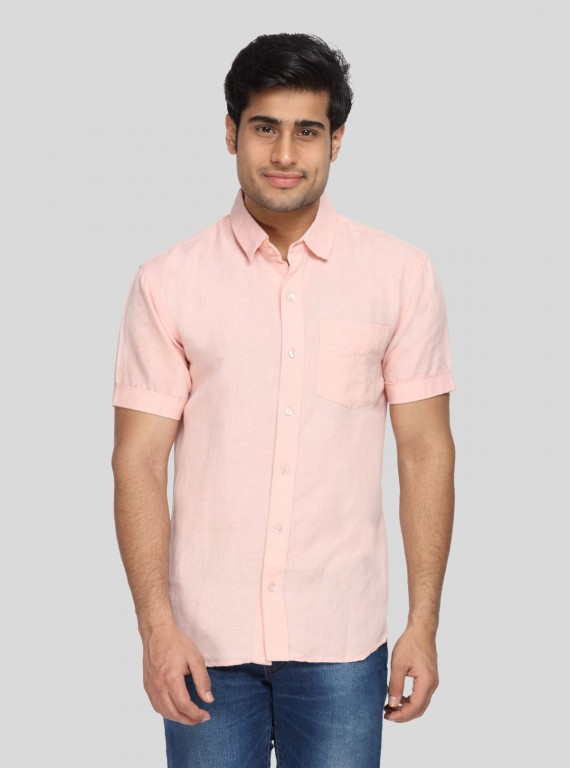 Light Pink Linen Shirt