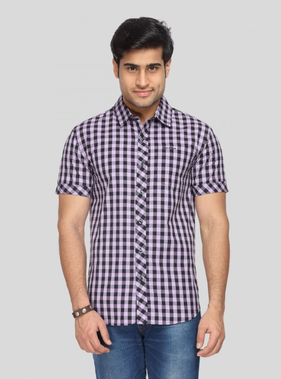 Checks Purple casual Shirt