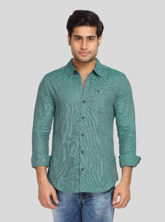 Light Green Solid Shirt
