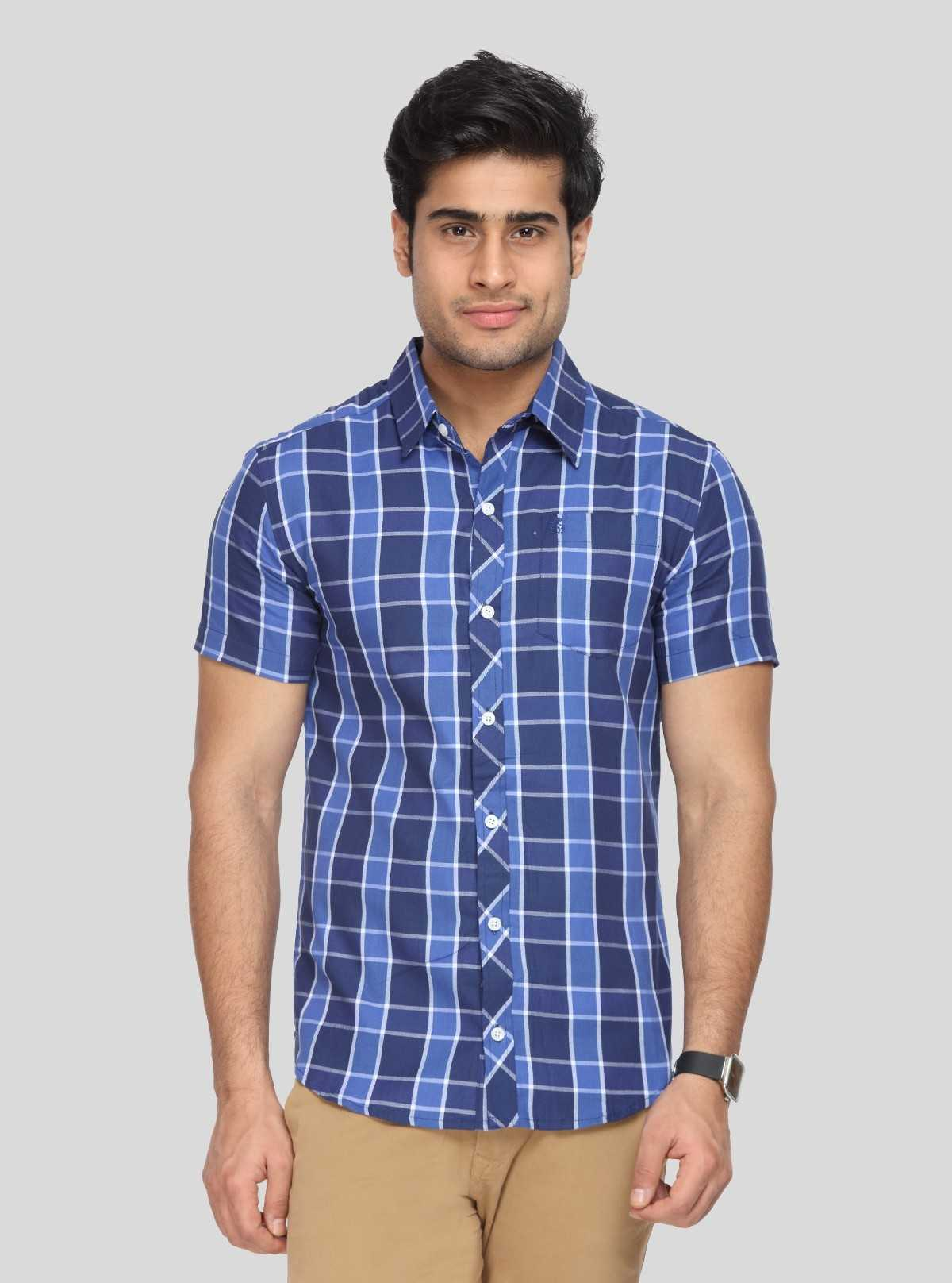 Ink Blue Checkered Shirt