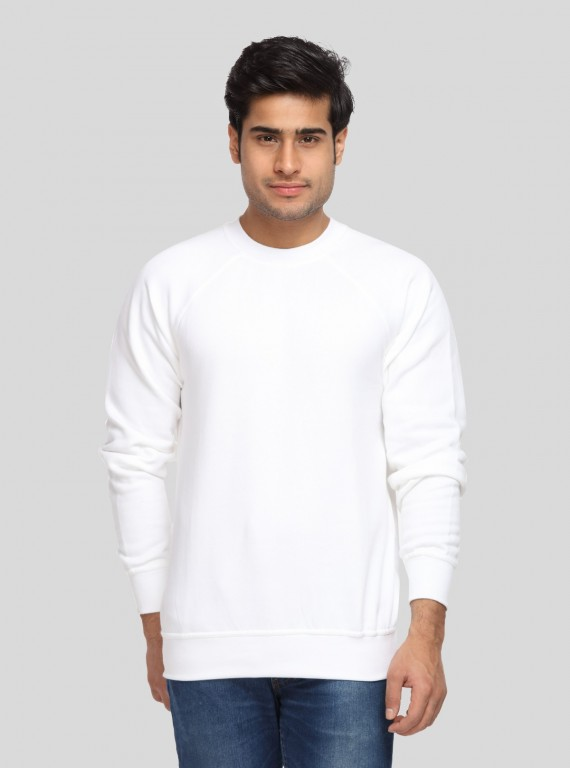 White Fleece Sweat Shirt