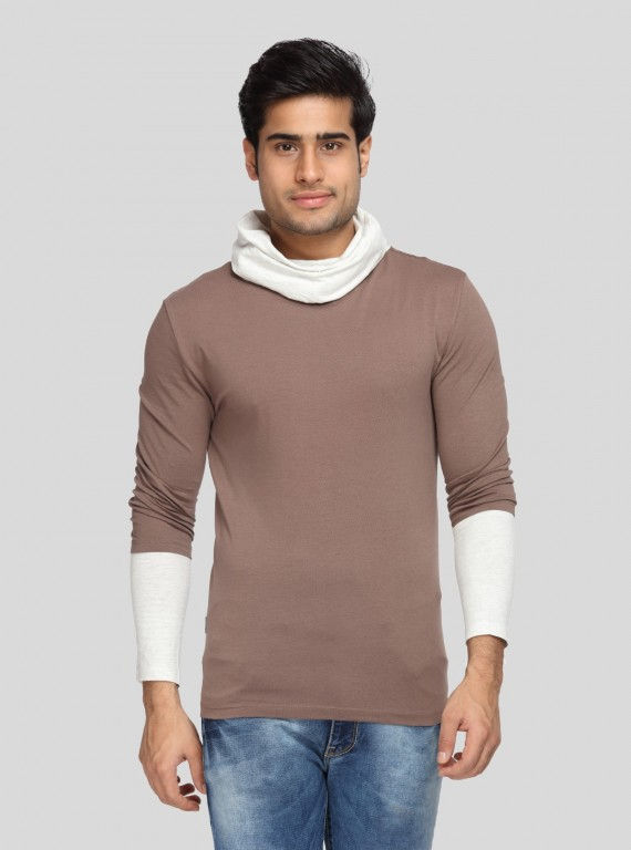 Brown Roll Neck TShirt