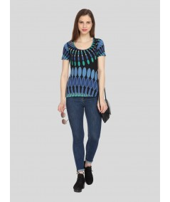 Limited Edition Printed Blue Top
