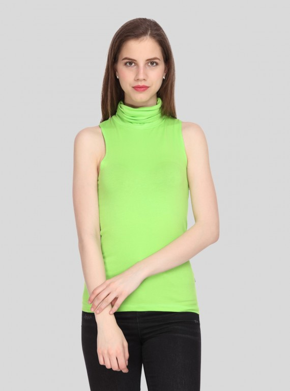 Green Turtle Neck top