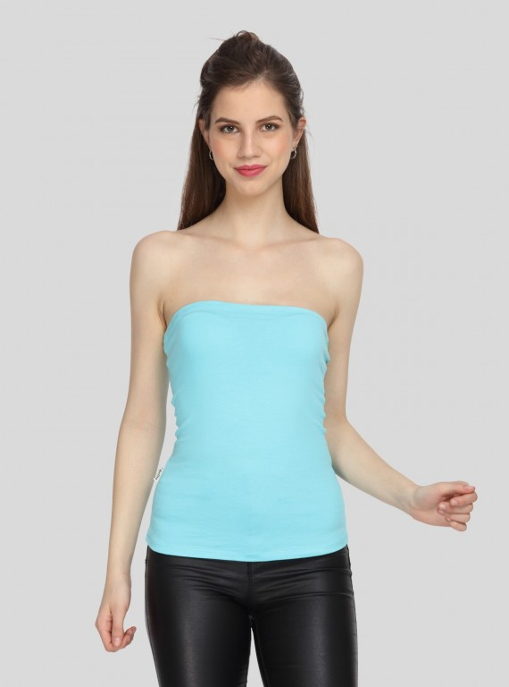 Womens Tube Top - Turquiose