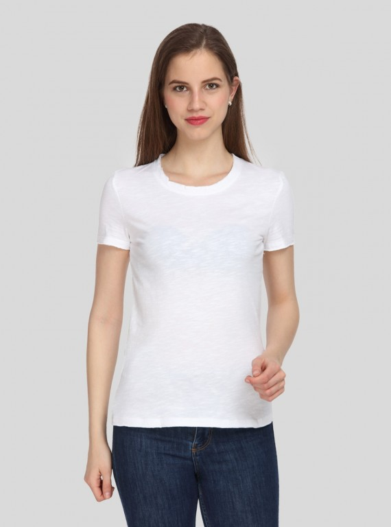 Slub Jersey White Top