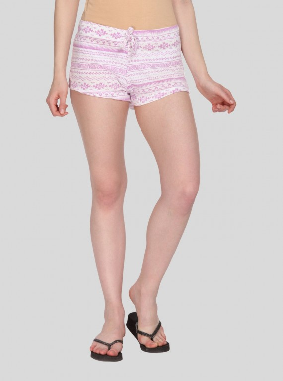 Fushia Graphic Womens Shorts
